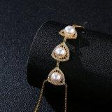 Armband van de Parel van de Hand van de Juwelen van de manier 18K de Gele Gouden Imitatie