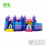 아이를 위한 자주색과 파란 성곽 팽창식 Funcity