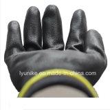 Черный провод фиолетового цвета для рук с покрытием Перчатки рабочие перчатки статических разрядов