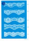 Merletto del tricot per vestiti/indumento/pattini/sacchetto/caso 3169 (larghezza: 7cm)