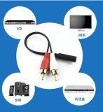 2RCA Yのディバイダー可聴周波AVケーブルへの3.5mmのステレオプラグ