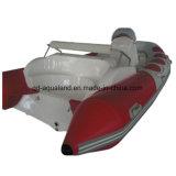 Aqualand 14feet 4.3mのガラス繊維の堅く膨脹可能な採取の/Ribのモーターボート(RIB430C)