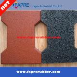 Резиновый плитки настила для напольного оборудования /Playground спортивной площадки