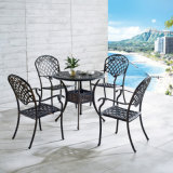 Анодированная мебель сада алюминиевого патио напольная обедая стулы для 4 людей
