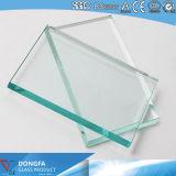 Limpar o vidro temperado de alto desempenho para sistema de divisórias de vidro do Office
