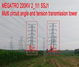 Megatro 220kv 2_1I1 Ssj1 Multi Circuit Angle and Tension Tower Transmission