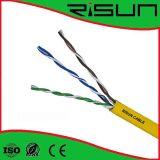 セリウムRoHS ISO9001との高品質の電話ケーブル4c 6c 10c