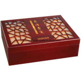 Boîte en bois de pin Customzied pour 2 bouteilles de vin rouge de l'emballage