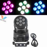 7*10W RGBW LED mini bewegliches Hauptträger-Partei-Disco-Ereignis-Licht