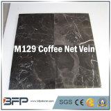 コーヒー磨かれた大理石の壁のタイルまたは床の敷物のための純静脈10mmの厚い大理石のタイル