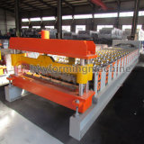 Tôle de toit ondulé / Type trapézoïdal la feuille de fer Making Machine machine à profiler