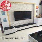 3D en PVC décoratifs insonorisées Panneau d'auto-adhésif pour la salle de séjour