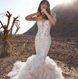 Платье венчания мантий кристаллический Organza Mermaid Bridal (BH012)