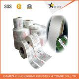 Impressão de etiqueta de código de barras personalizada Etiqueta de impressão de papel adesivo de transferência térmica