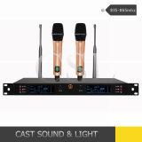PRO-audio inalámbrico UHF de doble canal de micrófono de Karaoke