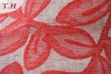 Tela 2016 de Chenille de la tapicería del Chenille del telar jacquar con las hojas