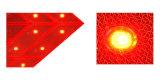 De rode LEIDENE Opvlammende Verkeersteken van de Juiste Pijl