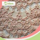 De nylon y spandex encaje bordado de tela para ropa de las mujeres