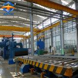 롤러 컨베이어 유형 강철 플레이트 탄 폭파 청소 기계