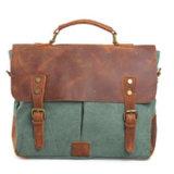 Футляр из натуральной кожи Redswan Bag вымыта холст ткань Messenger Man ноутбук дамской сумочке (RS-6807)
