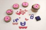 Food Grade Children Custom Rubber Silicone Wooden Cookie Stamp