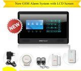 Alarme GSM com display LCD e teclado de toque OEM / ODM