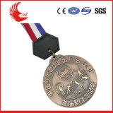 リボンが付いている卸し売り方法金属のカスタム円形メダル