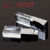 Azionamento a cristallo dell'istantaneo del USB del migliore di prezzi del regalo di promozione del USB 2.0 azionamento della penna con il marchio stampato
