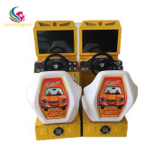 Machine van de Videospelletjes van de Raceauto van jonge geitjes de Muntstuk In werking gestelde