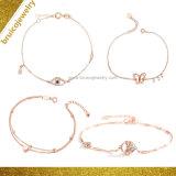 La mode Gold Charm bijoux en diamants 925 Sterling Silver Jewellery Bangle Bracelet avec mauvais oeil