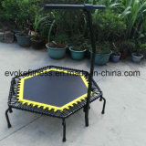 Mini-trampoline hexagonal avec élastiques pour bungee jumping Fitness Club de trampoline pour adulte