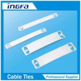 Etiqueta de la atadura de cables del nombre del acero inoxidable 316