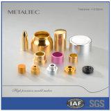 Metal que carimba a peça do tampão de frasco cosmético