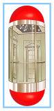 نوع مربّعة زار معلما سياحيّا مصعد مع يشبع زجاجيّة مقصور جدار