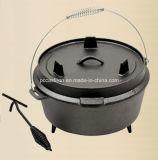 中国の8qt 9qt 12qt 14qtの鋳鉄BBQのダッチオーブンの製造業者