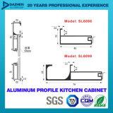 El perfil de aluminio para la plata brillante de Matt del cepillo de la maneta de la cabina de cocina anodizó