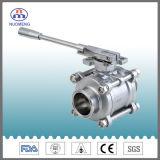 Válvula de esfera sanitária em aço inoxidável 3PCS com padrão DIN