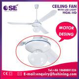 """56 """" LEDライト(HgK-VD)が付いているホーム省エネ220Vの白い天井に付いている扇風機"""