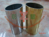 tubo oval de 316.316L ERW con el vidrio