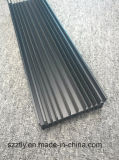 6063 6060 Profil d'extrusion en aluminium anodisé noir 10 Um