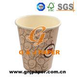 コーヒーで使用される単一の壁のDoulbeの側面のPEによって塗られるコップのペーパー