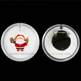 Regalos de Navidad de Cusmtom Insignia de plástico del botón del LED (3569)