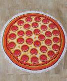 パイナップルピザハンバーガーのスイカデザインの円形のビーチタオル