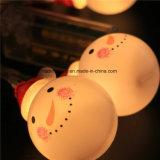 Warme weiße bernsteinfarbige gelbe weißes WeihnachtsSchneemann-Kugel-passen feenhaftes Zeichenkette-Licht den gebetriebenen Batterie-Adapter an
