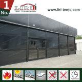 Tienda terma de la azotea el 15X15m del color de la estructura negra del cubo para el acontecimiento al aire libre