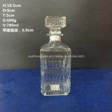 [800مل] شكل مربّعة زجاجيّة [رد وين] [فودكا] زجاجة عادة مع غطاء الصين