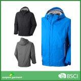 Различные цвета молнией боковых кармана с буртиком Poylester мужчин ветровку куртка