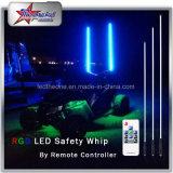 Selbstfarbe, die LED-Licht-Peitschen durch drahtlose entfernte Station für verwanzte Sicherheits-Warnleuchte der Düne-ATV UTV des LKW-LED ändert