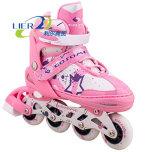 Los muchachos/los cabritos/el patín populares del niño calza patines en línea ajustables del adulto