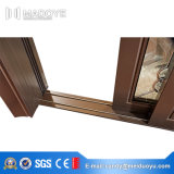 Fait dans la porte coulissante en aluminium de la Chine avec des abat-jour